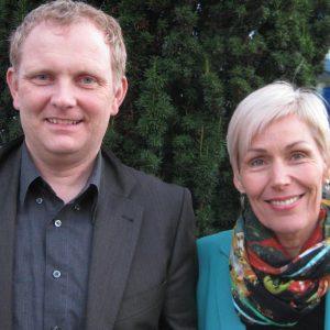 Bürgermeister Rainer Schreiber und Bettina Müller