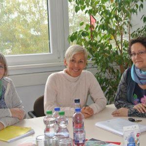 Personen auf dem Foto v.r.n.l.: Nicole Schneider-Kehne, Bettina Müller, Dr. Elisabeth Lohmann