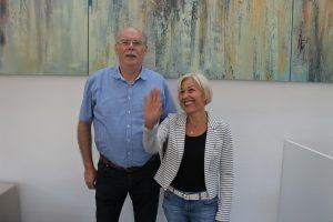 Bürgermeister Manfred Weber und Bettina Müller