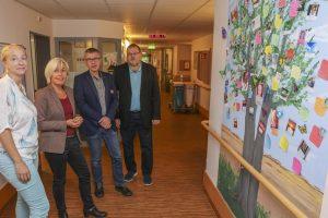 Im Gespräch: MdB Bettina  Müller, Uwe Brömmer, Stephanie Kaprol und Dieter Bien